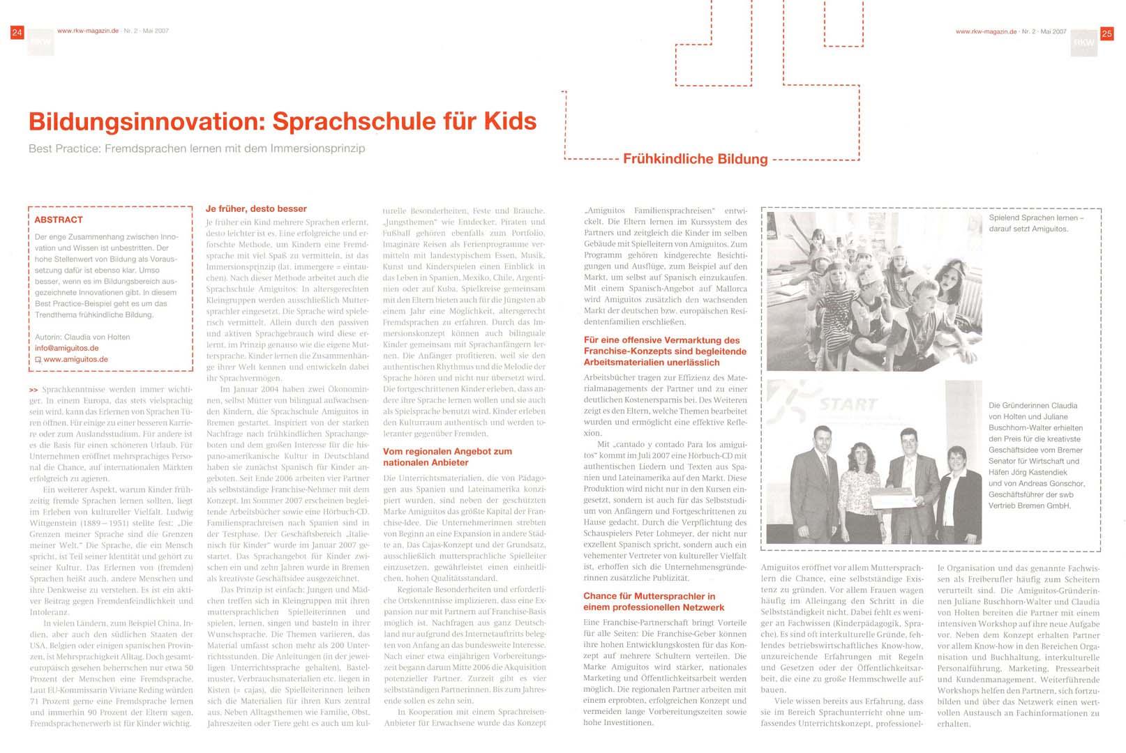 RKW Magazin 'Wissen und Weiterbildung', Mai 2007