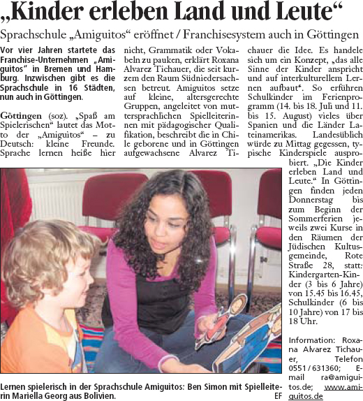 Göttinger Tageblatt, 8.5.2008