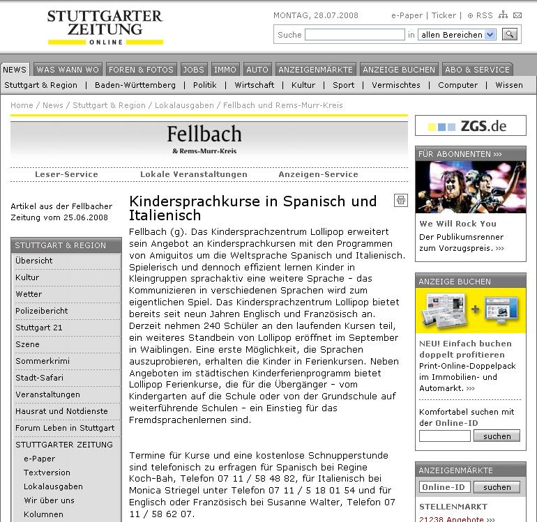Fellbacher Zeitung, 25.6.2008