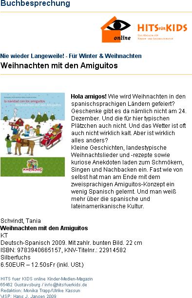 Hits für Kids, Buchbesprechung, 2009