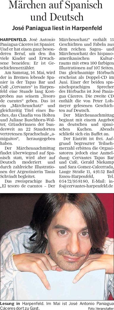 Wittlager Kreisblatt, 23.4.2009