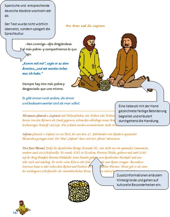 el tesoro de cuentos: Seite 24 mit Erläuterungen
